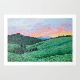 Lamar Valley, Yellowstone Art Print