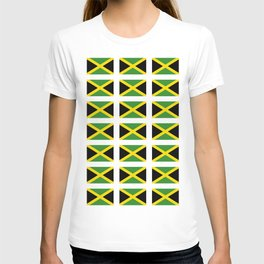 Flag of Jamaica 2-Jamaican,Bob Marley,Reggae,rastafari,cannabis,ganja,america,south america,ragga T-shirt