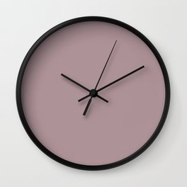 Simply Solid - Deauville Mauve Wall Clock