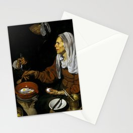 """Diego Velázquez """"An Old Woman Cooking Eggs"""" Stationery Cards"""