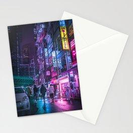 Cyberpunk Neo Tokyo Stationery Cards