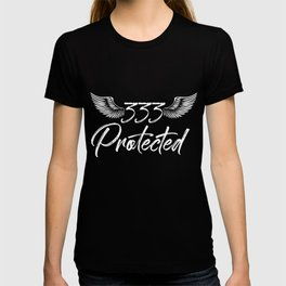 Religious God Fearing Godly Christian 333 Protected By Angel T-shirt