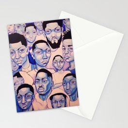 Black Boy Blues Stationery Cards