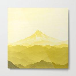 Illuminating Yellow 2021 Color Of The Year Pantone Mountains Adventure Metal Print