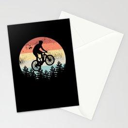 Mountain Biking Sunset Cyclist MTB Gift Stationery Cards
