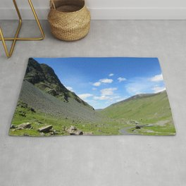 Sunny day, Buttermere, Lake District uk Rug