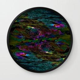 Evening Pond Rhapsody Wall Clock
