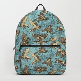 Death's-head hawkmoth teal Backpack