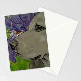 Percy Purple Irises Stationery Cards