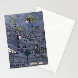 Monsieur Millet's Umbrellas Stationery Cards