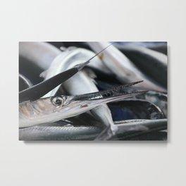 sword fish on market  Metal Print