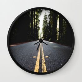 Into The Woods I Go - Nature Photography Wall Clock