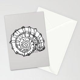 Sea Snail Shell Gray Background Stationery Cards