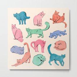 Patel Cats Metal Print