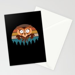 Cute Owl T-Shirt Stationery Cards