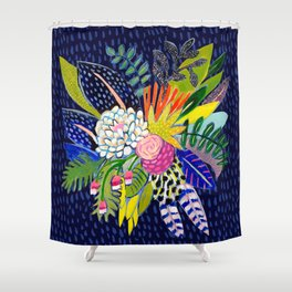 Night Glitter Shower Curtain
