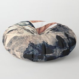 Patriotic Mount Rushmore Floor Pillow