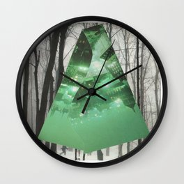 Emerald in the Trees Wall Clock