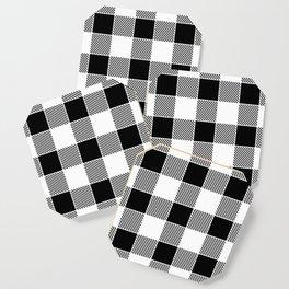 Buffalo Check - black / white Coaster