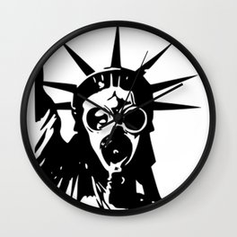 Statue of Liberty with Gas Mask Wall Clock