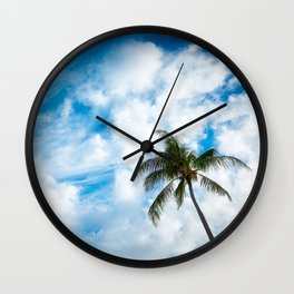 The Sky and a Coconut Tree Wall Clock