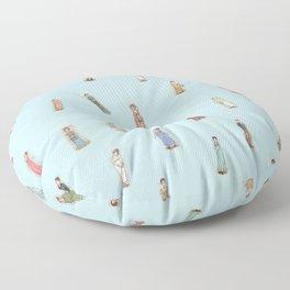 Jane Austen characters Floor Pillow