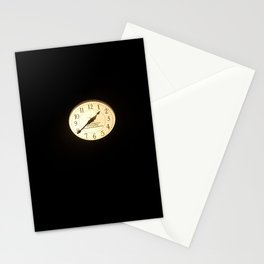 The Clock at Night Stationery Cards