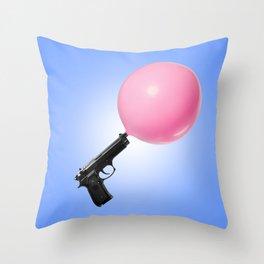 Bubblegun Throw Pillow