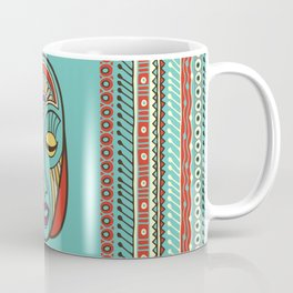 Aboriginal Aztec Inca Mayan Mask Coffee Mug