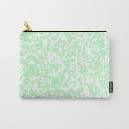 Small Spots - White and Light Green Carry-All Pouch