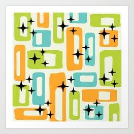Retro Mid Century Modern Abstract Pattern 245 Art Print