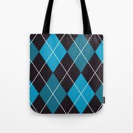Halloween blue argyle pattern Tote Bag