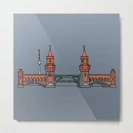 Oberbaum Bridge in Berlin Metal Print