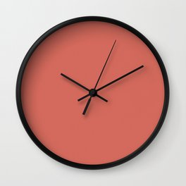 Coral Reef color Wall Clock