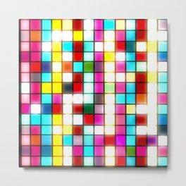Colorful blurred lights geometric abstract digital art  Metal Print