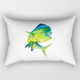Mahi Time - Lit-Up Mahi Mahi, Dorado, Dolphin Rectangular Pillow