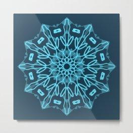 Mandala Ice Metal Print