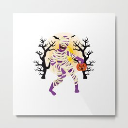 Halloween Mummy Character Metal Print