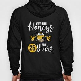 25th 25 year Wedding Anniversary Gift Honeys Husband Wife product Hoody