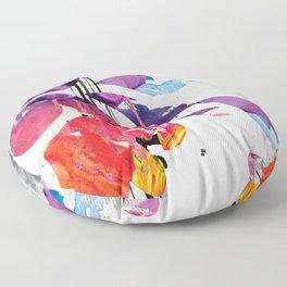 Colorful Grunge Newsprint Floor Pillow