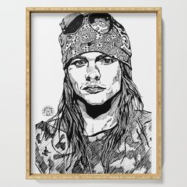 Axel Rose Portrait Serving Tray