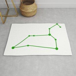Leo (Green & White) Rug