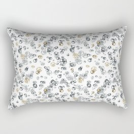 Arabidopsis isolated cells grey-gold on white Rectangular Pillow