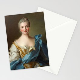 Madam de La Porte Portrait by Jean - Marc Nattier Stationery Cards