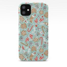 Gingerbread Dreams - Aqua iPhone Case