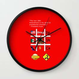 28th Amendment Wall Clock