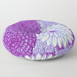 Watercolor Bouquet - Violet Floor Pillow