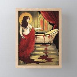 Blood Bath  Framed Mini Art Print