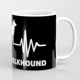 Heartbeat Norwegian Elkhound Coffee Mug