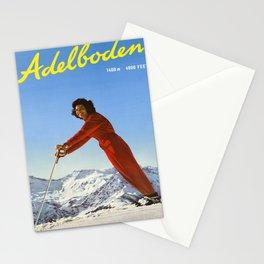 Plakat adelboden berner oberland schweiz Stationery Cards